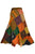 WS 411 Women's Hippie Long Wrap Patch Cotton Boho Renaissance Skirt Maxi - Agan Traders, Orange Rust