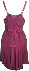 Gypsy Medieval Rayon Summer Tunic Dress - Agan Traders, Burgundy