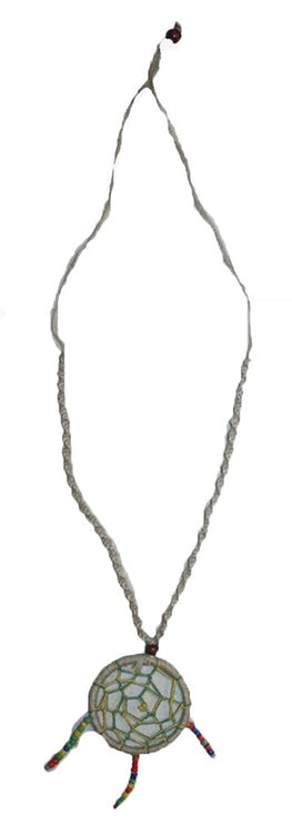 PE-06 Agan Traders Spider Web Beads Hemp Necklace Adjustable Length - Agan Traders