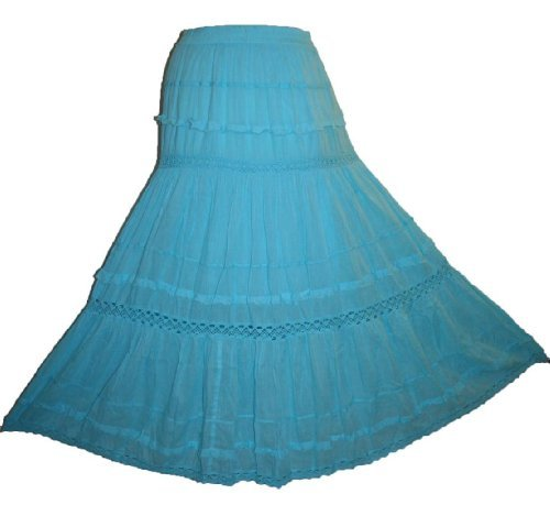Soft Cotton Tier Gypsy Renaissance Skirt - Agan Traders