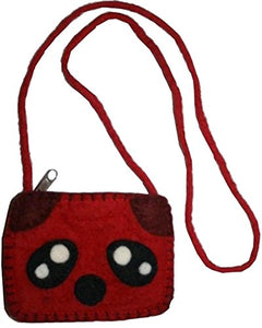 Animal Felted Wool Coin Purse - Agan Traders, Red Panda