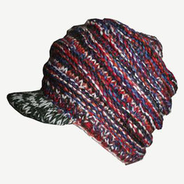 Multi-colored Knit Blended Wool Berate Chaki Peak Cap - Agan Traders, 1417 H1