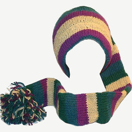 Knit Wool Combo Hat & Scarf