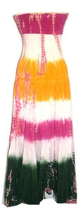 Cotton Tie Dye Gypsy Halter Tube Dress - Agan Traders, Pink