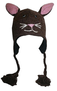 2-Ply Wool Adult Animal Hat - Agan Traders, Bunny Rabbit