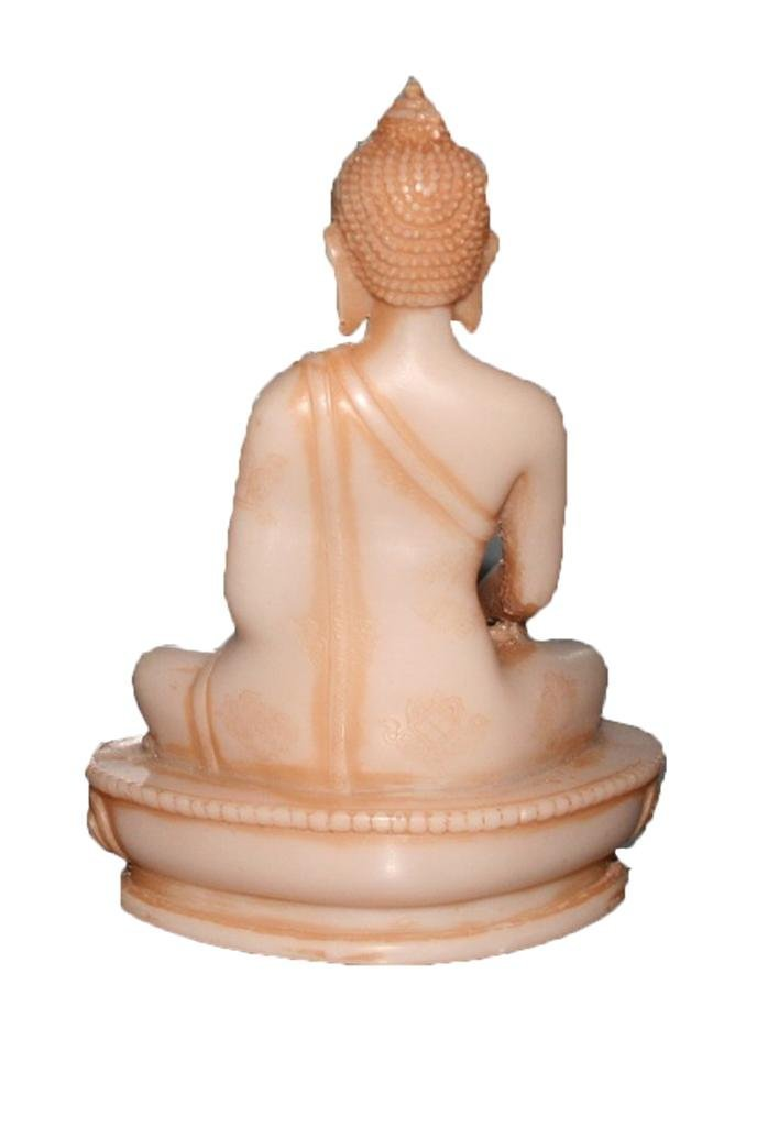 Soap Stone Hand Crafted Buddha (4.5 X 6.0 inches) - Agan Traders