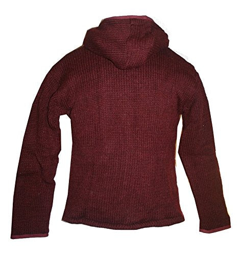 Knit Sherpa Hoodie Kangaroo Pocket Fleece Jacket - Agan Traders