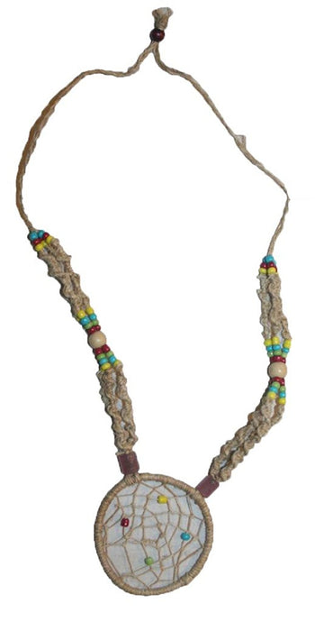 HE-07 Agan Traders Spider Web Beads Hemp Stranded Necklace Adjustable Length - Agan Traders