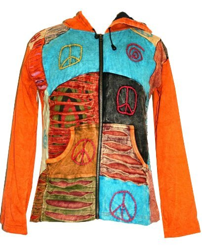 R 62 J Agan Traders Cotton Funky Patchwork Bohemian Jacket Pony Tail - Agan Traders