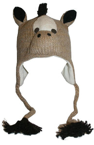 2-Ply Wool Adult Animal Hat - Agan Traders, Horse