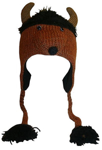 2-Ply Wool Adult Animal Hat - Agan Traders, Bison