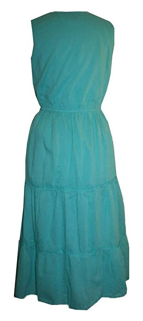 9999 D Agan Traders Soft Cotton Casual Summer Dress - Agan Traders, Emerald Green