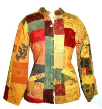 Cotton Funky Patchwork Multi-colored Bohemian Jaipuri Jacket - Agan Traders