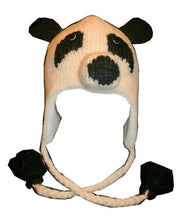 Agan Traders Wool Animal Knit Fleece Lined Flap trapper Hat Child Kids Size - Agan Traders, Panda