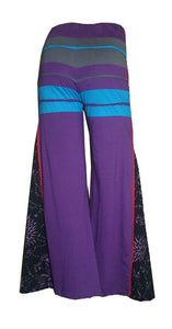 LP 496 Agan Traders Bohemian Cotton Belly Button Pant wide Trouser - Agan Traders