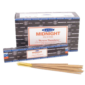 Satya Nag Champa incense Sticks - [ Box 12 Packs; 15 gm each] - Agan Traders, Midnight