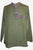 Lightweight Cotton Yoga Casual Shirt Mandarin Henley Style - Agan Traders, Army Green
