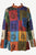 Light Weight Cotton Patchwork Mandarin Style Henley Tunic Kurta Shirt Top - Agan Traders, Multi 1