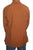 543 MS Men's 3 button Henley Tunic Shirt - Agan Traders, Rust Copper