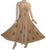Gothic Summer Spaghetti Strap Embroidered Sleeveless Dress - Agan Traders, Camel