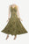 Gothic Summer Spaghetti Strap Embroidered Sleeveless Dress - Agan Traders, Olive