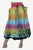 60 Skt Cotton Tie Dye or Solid Balloon Front Pocket Bubble Skirt - Agan Traders, Rainbow
