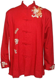 Oriental Mandarin Coat Kung Fu Tai Chi Light Coat Jacket - Agan Traders, Red
