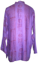 Goddess Script Printed Yoga Tunic Rayon Shirt - Agan Traders, Purple