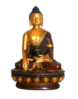 Golden Meditating Buddha [3.0 X 6.0 inches] - Agan Traders
