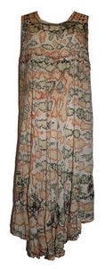 R 35 Agan Traders Rayon Light Weight Marble Printed Summer Calf Dress Size ~ One Size - Agan Traders
