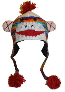 2-Ply Wool Adult Animal Hat - Agan Traders, Sock Monkey