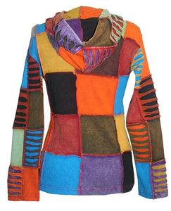 RJ 310/307 Agan Traders Hand Crafted Patch Rib Bohemian Hoodie Jacket - Agan Traders, Multicolor