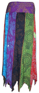 R 405 Agan Traders Bohemian Gypsy Patched Embroidery Soft Rayon Viscose Summer Skirt - Agan Traders, Multicolor