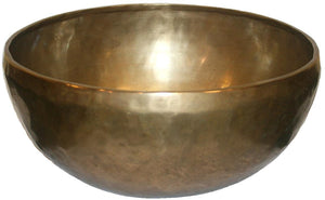 Large D Note Tibetan Meditating Singing Bowl Set (7.5 diameter; 2 lbs 4oz) - Agan Traders