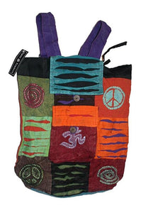 Agan Traders Bohemian Cotton Patchwork Gypsy Rucksack Backpack - Agan Traders, Style 11