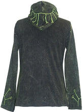 RJ 354 Agan Traders Nepal Hand Crafted Butterfly Bohemian hoodie Jacket. - Agan Traders, Charcoal