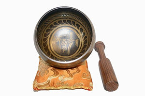 Antique Tibetan Auspicious Symbol Bowl Set - Agan Traders, SB 3005 D