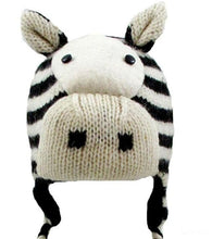 Agan Traders Wool Animal Knit Fleece Lined Flap trapper Hat Child Kids Size - Agan Traders, Zebra