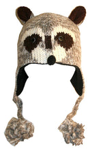 Agan Traders Wool Animal Knit Fleece Lined Flap trapper Hat Child Kids Size - Agan Traders, Racoon
