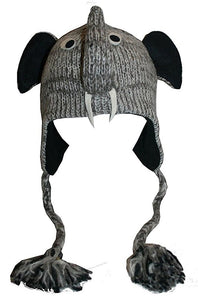 2-Ply Wool Adult Animal Hat - Agan Traders, Elephant
