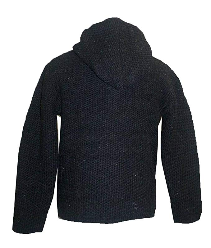 UFM 5 Lamb's Wool Warm Fleece Winter Sherpa Hoodie Sweater Coat Jacket - Agan Traders, Charcoal