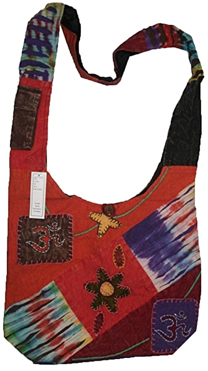 Agan Traders Cotton Bohemian Patched Work Cross Shoulder Bag Purse - Agan Traders, Multi 3P