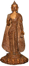 Resin Tall Meditation Buddha Statue Fair Trade [7.0 X 12.0 inches; 2.5 lb] - Agan Traders