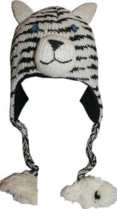 2-Ply Wool Adult Animal Hat - Agan Traders, Siberian Tiger