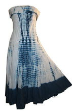Cotton Tie Dye Gypsy Halter Tube Dress - Agan Traders, Navy Blue
