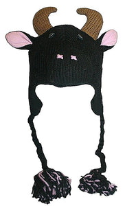 2-Ply Wool Adult Animal Hat - Agan Traders, Bull Buffalo