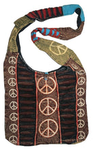 SJ 09 Peace Symbol Printed Cotton Shoulder Bohemian Gypsy Bag - Agan Traders