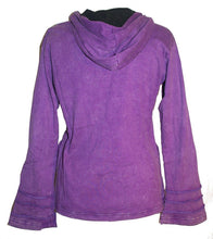 Nepal Rib Patch Cotton Bohemian Insulated Hoodie Jacket - Agan Traders, Purple