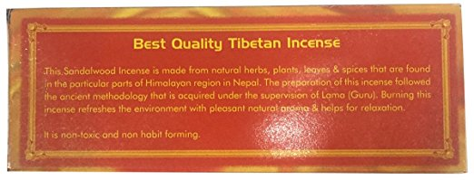 Tibetan Traditional Meditating Incense Nepal - Agan Traders, Tibetan Sandalwood