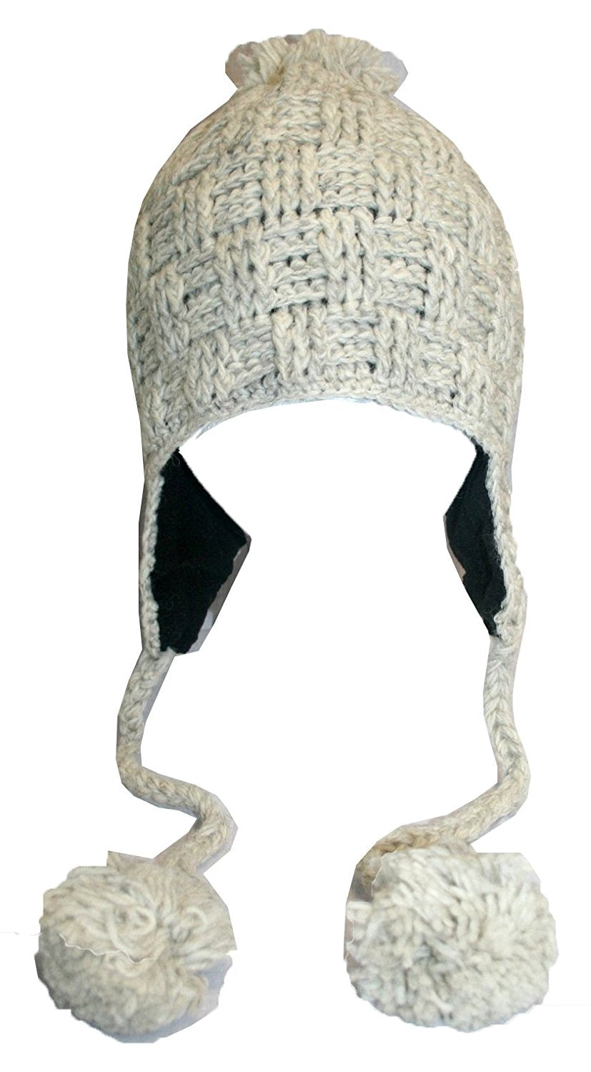 Highland Wool Knit Beanie Fleece Earflap Beanies - Agan Traders, 1411 CR